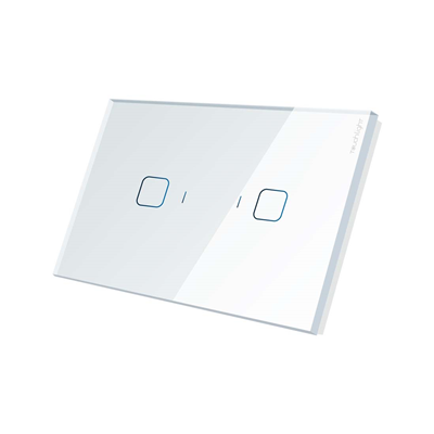 Interruptor 4x2 de 2 botões ON/OFF TL42-N2-SR Branco - TOUCHLIGHT