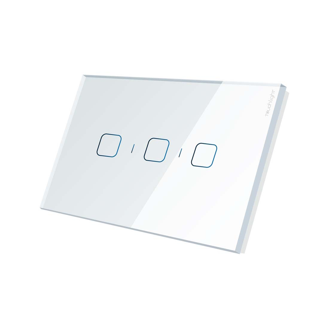 Interruptor 4x2 de 3 botões ON/OFF TL42-N3-SR Branco - TOUCHLIGHT