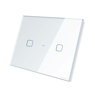 Interruptor 4x4 de 2 botões ON/OFF TL44-N2-SR Branco - TOUCHLIGHT