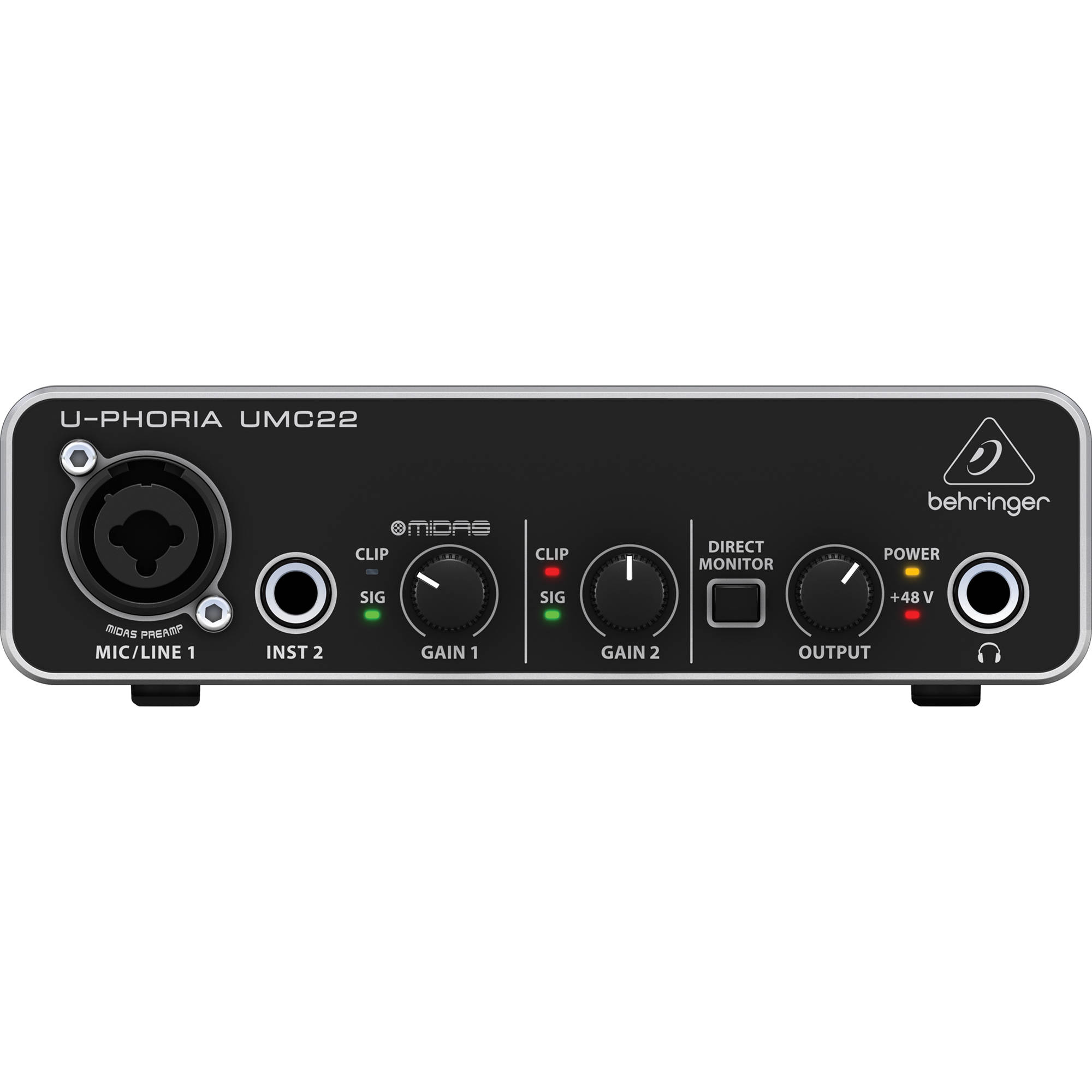 Interface de Áudio USB Audiophile 2x2 U-PHORIA UMC22 - BEHRINGER