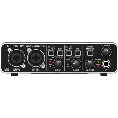 Interface de Áudio BEHRINGER  U-PHORIA UMC202HD USB 2.0