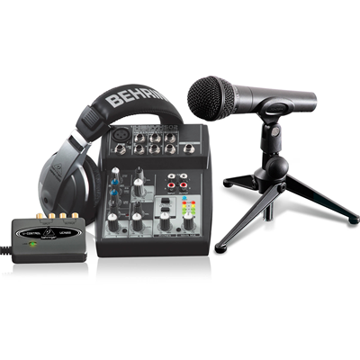 Kit Completo de Podcasting com Interface  PODCASTUDIO USB - BEHRINGER